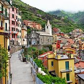 Riomaggiore - beautiful mountain village, Cinque terre , italy