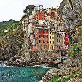 bella Italia series - colorful Riomaggiore village, Cinque terre