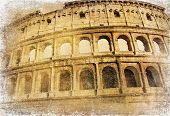 Great Colosseum - artistic retro styled picture