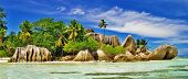 stock photo of granite  - amazing Seychelles islands  - JPG