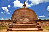 Polonnaruwa , ancient stupa. travel in Sri lanka series