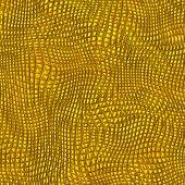 Grunge Golden Fishnet Pattern