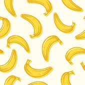 Seamless bananas background pattern