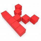 Letter K Cubic Red