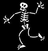 Surprised Halloween skeleton