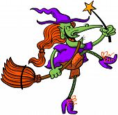 Nice witch celebrating Halloween