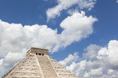 Top of the pyramid Chichen Itza Mexico