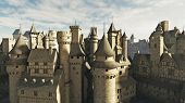 picture of medieval  - Medieval or fantasy town rooftops - JPG