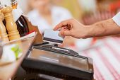 stock photo of cashiers  - Close - JPG