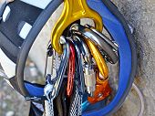 Climbing Equipment - Carabiners And Harness