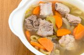 Pickled Cabbage Soup With Carrots And Pork Ribs