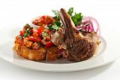 Grilled Lamb Chop with Tomatoes