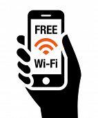 Icono de Wi-Fi gratis