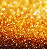 stock photo of glitter  - Gold Festive Background - JPG
