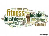 image of physique  - Vector eps concept or conceptual abstract word cloud on white background as metaphor for health - JPG