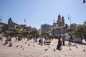 Main Square Of Pontevedra, Galicia