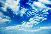 Blue Sky With  White Puffy Clouds