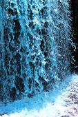 foto of gushing  - a scenic Blue Fountain Gushing in the mountain