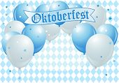 Oktoberfest Celebration Background with Copy Balloons