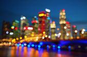 foto of singapore night  - Night lights of the Singapore city - JPG
