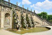 Grand Cascade In The Herrenhausen Gardens, Baroque Gardens, Established On Behalf Of Princess Sophie