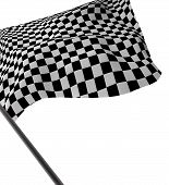 stock photo of sidecar  - Large Checkered Flag made in 2d software - JPG