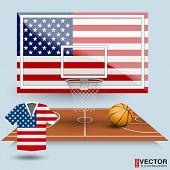 Vector Illustration Basketball Background