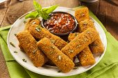 Homemade Fried Mozzarella Sticks