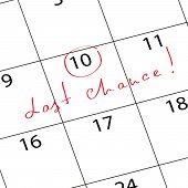 Mark Calendar Last Chance