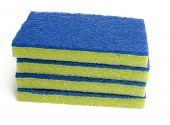 Generic brittle scrub pad for cleaning dirty surfaces