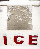 ice freezer with snow