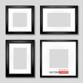 Set Of Black Picture Frames
