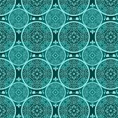 Turquoise Abstract Seamless Lace Pattern Texture