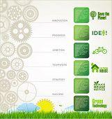 Modern ecology design template with green gear