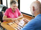 Rv Seniors Play Backgammon
