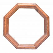 foto of octagon  - an octagonal wooden frame with clipping path - JPG
