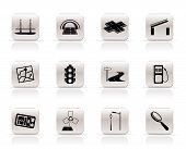 Simple Road, navigation and travel icons