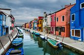 Burano, Channel View, Venice In Italy