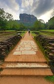 Path to Sigiriya rock Castle, Sri Lanka