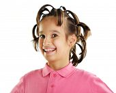 Funny portrait of kid with hair style