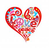 stock photo of hippy  - Hippie heart - JPG