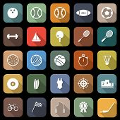 Sport Flat Icons With Long Shadow