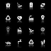 Environmental Icons I - black series