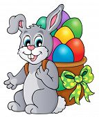 Easter bunny theme image 6 - eps10 vector illustration.