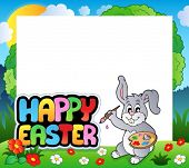 Frame with Easter bunny theme 7 - eps10 vector illustration.