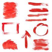 Red Paint Design Elements