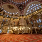 Inside Of Suleymaniye Mosque