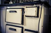 Old White Metal Oven