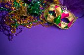 stock photo of tuesday  - Festive Grouping of mardi gras - JPG