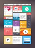 Flat ui kit for responsive web design. Adaptive web elements for 960 grid